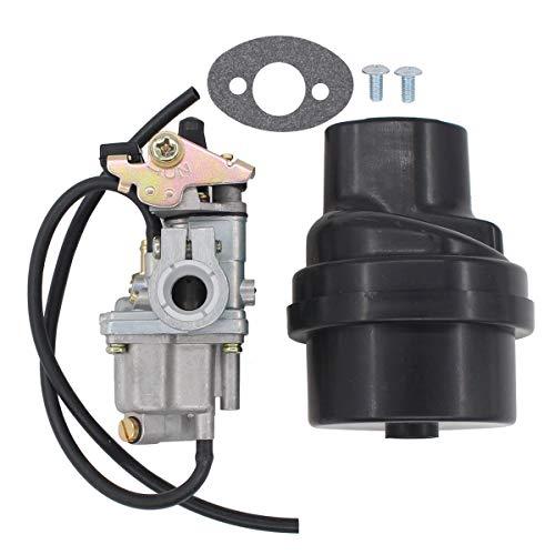 MOTOKU Carburetor Carb & Air Filter Box Assembly for JR50 Quadrunner 50 Quadmaster 50 LTA50