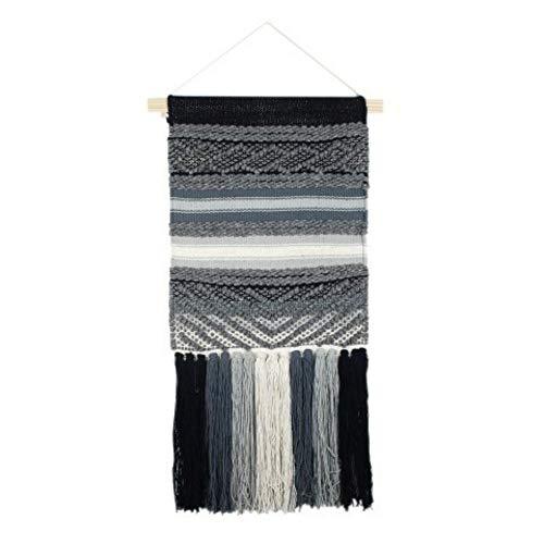 CAPRILO Adorno Pared Decorativo Textil Macramé Cuadros y Apliques. Decoración Hogar. Regalos Originales. 70 x 41 x 1 cm.