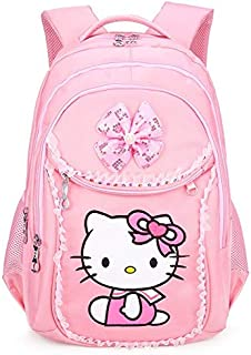 TEKUDA School Bags - Hello Kitty School Backpacks for Girls Kids Satchel Children School Bags for