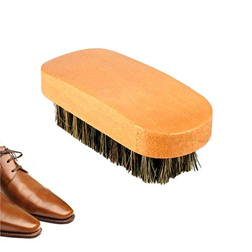QQWA Borste Haarbürste Schuhbürste Für Frauen Und Männer - Naturholz Große Quadratische Paddel Schuhbürste