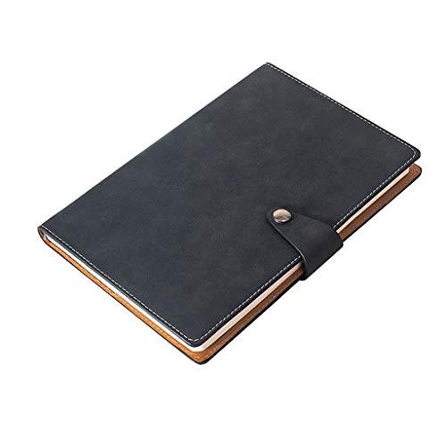 KYAM Libreta Cuaderno Agenda Libreta Universidad Diario Diario A5 PU Hardcover Suave Hebilla de Cuero Oficina de Visita Retra Registro de la reunión 240 Páginas Diarios para Escribir (Color : Bronze)
