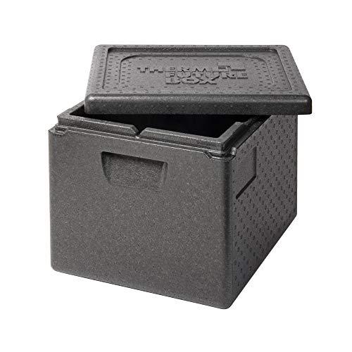 Thermo Future Box GN 1/2 Thermobox Kühlbox, Transportbox Warmhaltebox und Isolierbox mit Deckel,23 Liter Thermobox,Thermobox aus EPP (expandiertes Polypropylen)