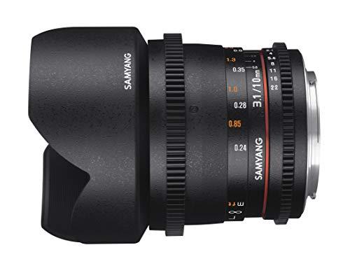 SAMYANG 13010T3.1N 10 mm T3.1 VDSLR ED AS NCS CS II Objektiv für Anschluss Nikon schwarz