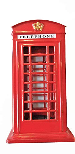 Red Telephone Box Money Box - Small / Metal with...