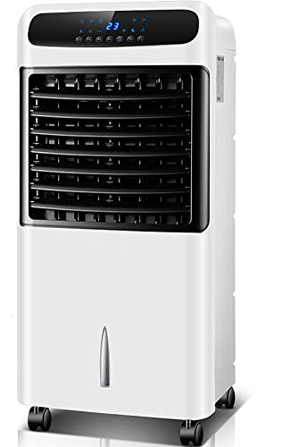 DXIII DELUXE13 Climatizador Evaporativo Calefactor Ventilador Humidificador Ionizador Portátil - Frío 80W - Calor 1000W - 2000W