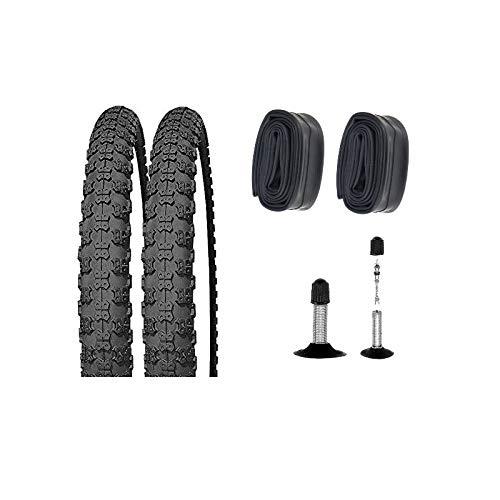 SET: 2 x Kenda K50 Fahrrad BMX Reifen 20x2.125 + Schläuche Autoventil 20