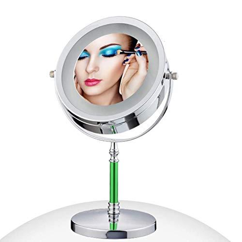 L.HPT Miroir de Maquillage grossissant avec Support, grossissement Double Face 3X / 1x, miroirs de Salle de Bain de 13 po de Hauteur, 7,87 Pouces
