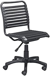 Zuo Modern Stretchie Office Chair, Black Bungee Style Weave, Right Mix of Comfort and Flexibility, 250 lbs Weight Capacity, Dimensions 22.8