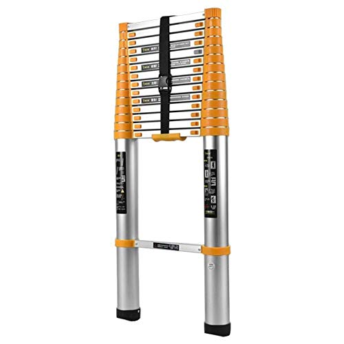 Aluminium Telescoping Climb Ladder, Multi-Purpose Extension Vouwladders for Industrial Household dagelijks of in noodgevallen, Load 330 Lbs (Size: 5.1m / 16.7ft) 8bayfa (Size : 4.7m/15.4ft)