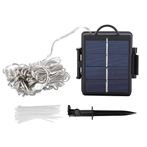 SALUTUYA Umbrella Pole Solar Light, Waterproof, Pole Light, String Lights, 104pcs, for Wedding for Beach Deck Tents