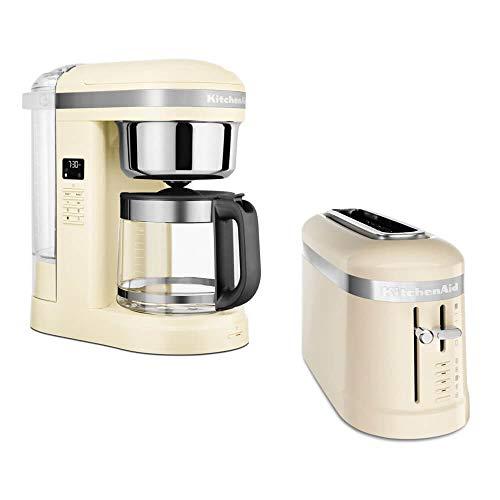 KitchenAid Frühstücksset mit Drip Kaffeemaschine und 2 Scheiben Toaster (Creme)
