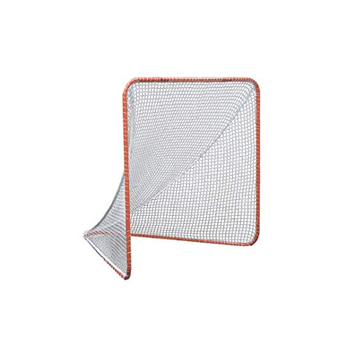 Gladiator Lacrosse Official Lacrosse Goal Net, Orange, 100% Steel Frame, 6 x 6-Foot, Standard