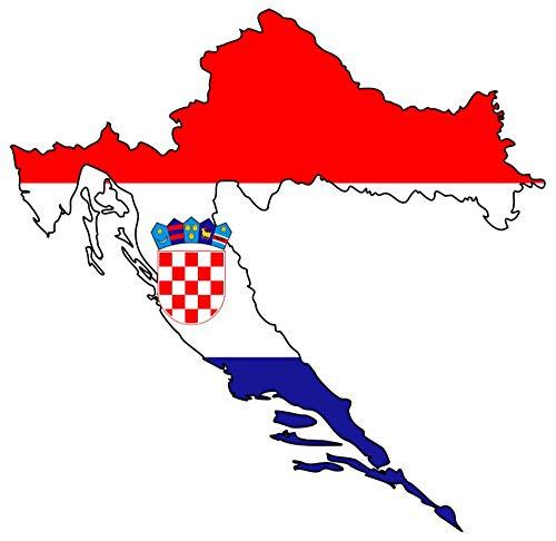 Samunshi® Kroatien Aufkleber Autosticker in Nationalfarben in 9 Größen (10x9,8cm Color_Title)