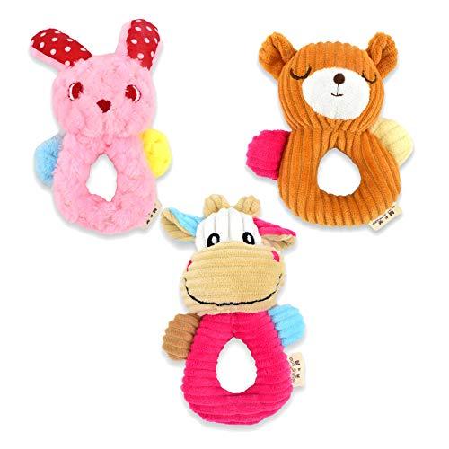 CLDY Quietschspielzeug, Robustes Plüschspielzeug für Hunde und Katzen, 3er Set Hundespielzeug / Haustierspielzeug