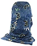 Video Game Gamer Throw and Travel Blanket with Controller Graphics - 50 by 60 Inches