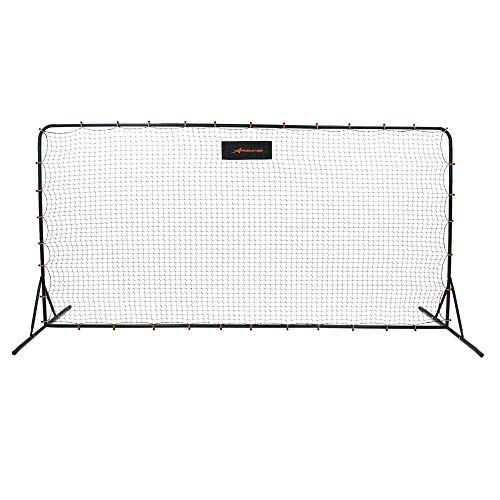 ACELETIQS Soccer Net 6x12 Feet Practice Training Soccer Rebounder Net | Portable, Easy Assembly, Steel Frame | Perfect for Practicing Backyard Volley, Solo Training,Kickback, Passing, Pitchback