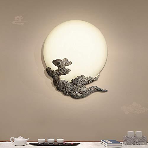 MGWA Creative Cloud Moon - Lámpara de pared LED, iluminación decorativa adecuada para sala de estar, hotel, casa club, pasillo, pasillo, comedor, mesita de noche de 51 x 40 x 8 cm (color: B)