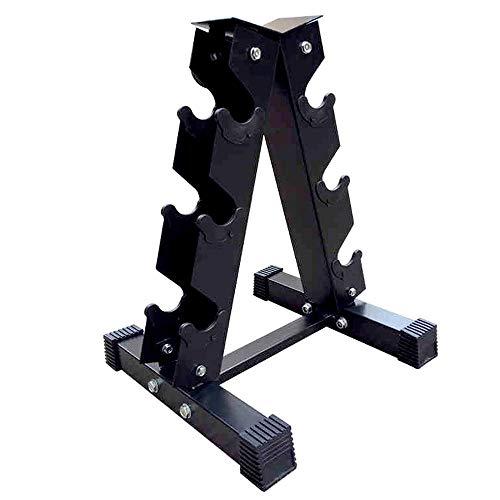 J&X A Pesa de Almacenamiento en Rack, Rack de Acero sólido mancuerna, Levantamiento de Pesas con Mancuernas Bastidor, de múltiples Capas de Levantamiento de Pesas de Gimnasio Manual de la Torre