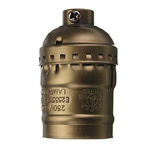 SODIAL(R) Edison Vintage Lampe Prise de base Adaptateur de support E27 Ampoules - Convient pour ampoule nue Caracteristiques Avec interrupteur sans fil laiton antique