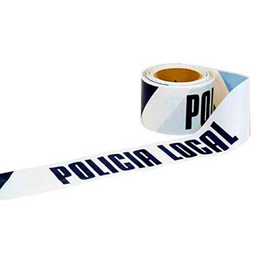 Cofan 11000317 Cinta Balizamiento Policía Local, 80 mm x 100 m
