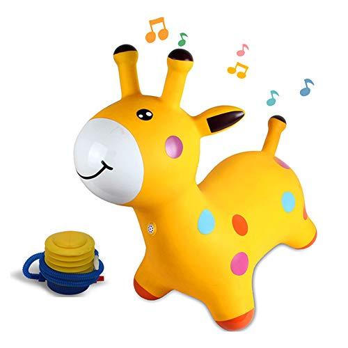 YLZT Juego Inflable de la Despedida del Juguete del PVC del Caballo Mecedora del Caballo de la tolva del Caballo del bebé con la música para los niños pequeños