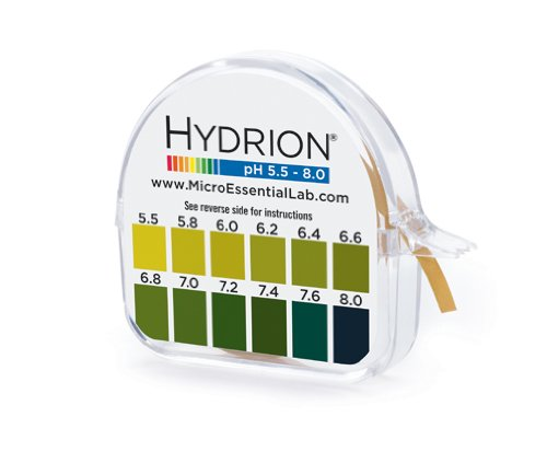 HYDRION pH 15 Foot Roll with Chart and Dispenser 5.5-8.0 pH Range