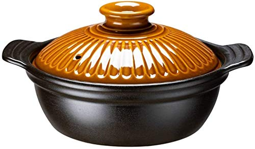 Sooiy Cocotte - Batterie de Cuisine - Robuste Dense, Lisse et Dur, Facile à Nettoyer, Grip Confortable (Couleur: A, Taille: Capacity1.5L)