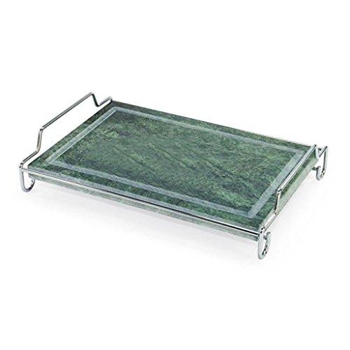ILSA Grillplatte aus Speckstein zum Backen von Fleisch und Gemüse, Ständer aus Edelstahl, zusammenklappbar (25 x 40 cm)