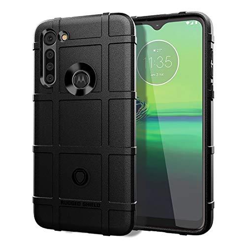 Tapa del teléfono de la Caja del teléfono para Motorola Moto G8 Power Cobertura Completa a Prueba de choques TPU Caso (Color : Black)