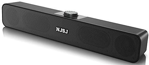 Altoparlanti per computer,NJSJ Wired Desktop Speaker,Altoparlanti stereo USB alimentato mini Soundbar per PC laptop tablet desktop cellulare MP3