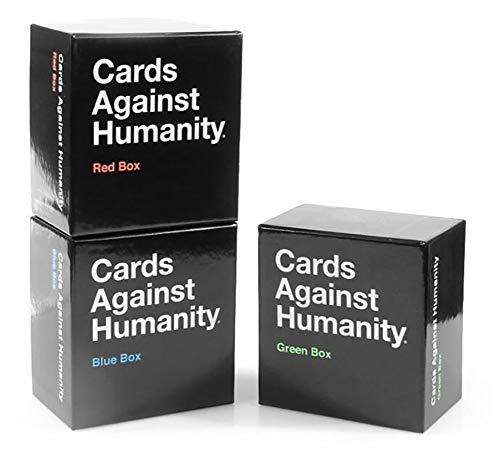 HSJSY kaarten tegen de mensheid: rode doos en groene doos en blauwe doos uitbreidingspakket
