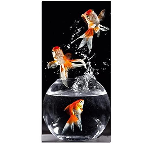 DIY Diamond Painting Full Drill Completo Kit tamaño grande Goldfish en el agua 70x140cm Diamante Arte Bordado 5D DIY Pintura de Diamante punto de cruz Mosaico Imagen Regalo Decoracion Pared