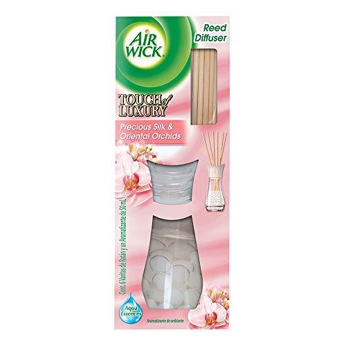 Air Wick Reed Diffuser Aromatizante de Ambiente, Precious Silk & Oriental Orchids, 50ml