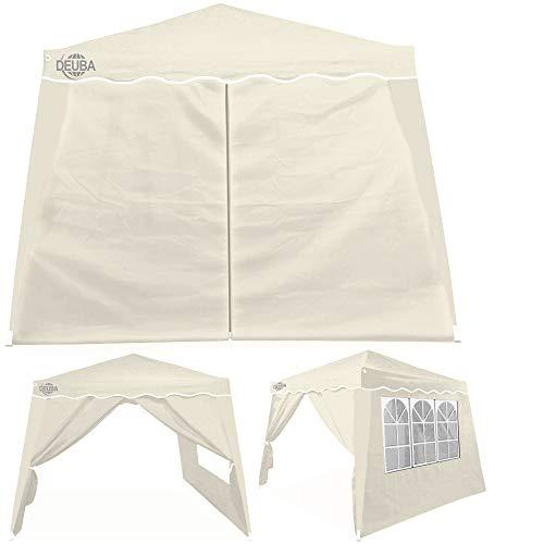 Deuba® 2X Seitenwand Pavillon für 3x3m Capri wasserabweisend Faltpavillon Pop Up Partyzelt Pavillonwand Seitenteil Beige