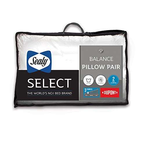 Sealy Balance Pillow, Microfibre, White, Twin
