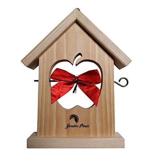 NUISI-ECO - Mangiatoia per uccelli, in legno di alta qualità, idea regalo originale.