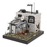 Bulokeliner Modelo de bloques de construcción Street View para casa, 1350 piezas, escena de Wasteland, modelo MOC-41419, bloques de construcción compatibles con casa Lego