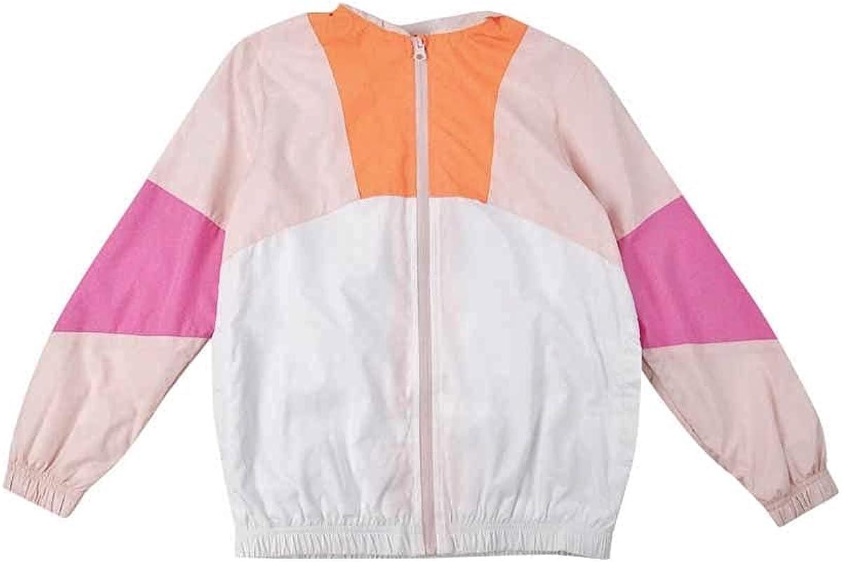 Ideology Big Girls Colorblocked Hooded Windbreaker (M (10/12), Bright White)