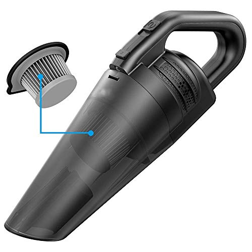 Best Price VBlfv Vacuum Cleaner Cordless Portable Handheld Rechargeable Vacuum Cleaner Car Dry/Wet D...