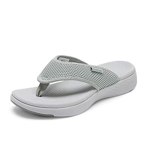 DREAM PAIRS Fantasia Women Rhinestones Toe Ring Summer Flat Sandals Silver