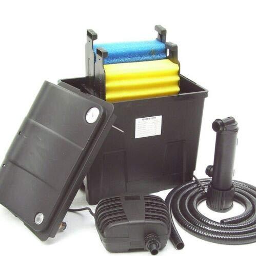 D&L Filtre extérieur de bassin 8000 l + clarificateur UVC 9 W + pompe de bassin 55889