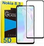 tomaxx 2X 5D Panzerglas für Nokia 8.3 5G Schutzfolie 9H Hartglas HD Glas [Anti-Kratz] Blasenfrei Bildschirmschutzfolie für Nokia 8.3 5G Smartphone