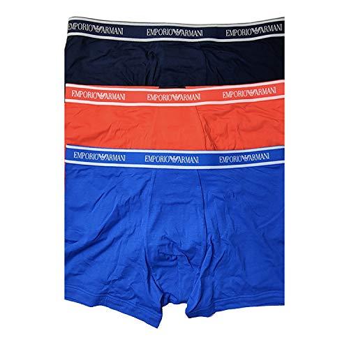 Emporio Armani Underwear Herren Multipack-Core Logoband 3-Pack Boxer Boxershorts, Blau (MARIN/Arancio/OLTREM 66935), X-Large (Herstellergröße:XL)