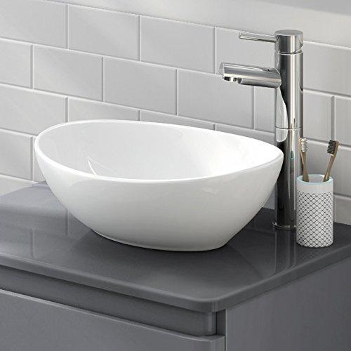 LexonElec sopra il lavandino del bagno lavandino lavandino moderno minimalista elegante rotondo ovale in ceramica bianca personalità creativa lavabo bagno