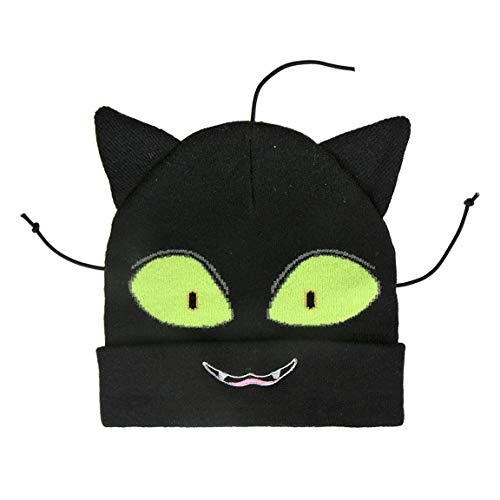 takestop® Hoed Lady Bug Cat Noir Zwart Warm Winter Cartoon Miraculous Disney eenheidsmaat kinderen jongens cadeau winter