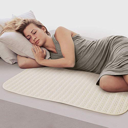 Waterproof Bed Pad Washable & Reusable Underpads 4 Layer Incontinence Mattress Protector 100% Cotton Surface for Children Adults and Pets by YOOFOSS