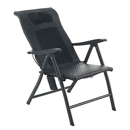 VONOYA Klappstuhl Massage Klappmassagestuhl Tragbar Massagesessel 100kg Relaxsessel Gartenstuhl mit Massagefunktion Shiatsu Massagestuhl Verstellbare Rückenlehne