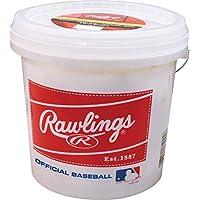 24-Count Rawlings Official League Recreational Grade Baseballs Bucket