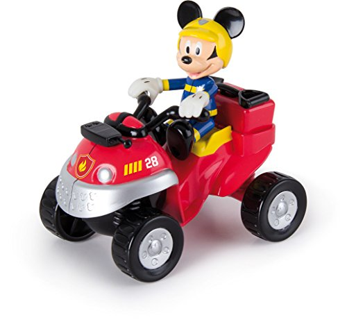 Micky Maus 181915MM2 Disney Junior Micky Feuerwehr Quad, Mehrfarbig (Spielzeug)