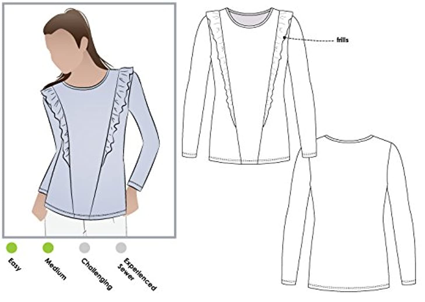 Style Arc Sewing Pattern - Keely Knit Top (Sizes 04-16) - Click for Other Sizes Available